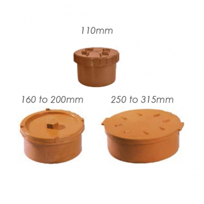 Paling Underground Drainage Sewer Piping System UPVC Fitting Series Access Plug
