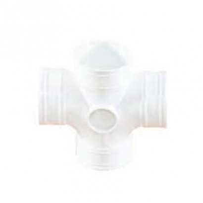 South Asia Exact UPVC Soil Waste And Ventilation Series Equal Double Branch (Cross Tee)