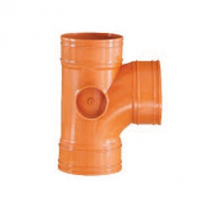 South Asia Exact UPVC Underground Brown Pipe Series Underground Equal Single Branch UE10