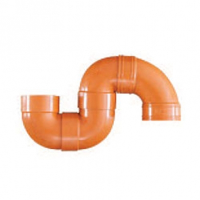 South Asia Exact UPVC Underground Brown Pipe Series Underground S Trap Plain US30