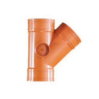 South Asia Exact UPVC Underground Brown Pipe Series Underground 45° Y Branch UEY10