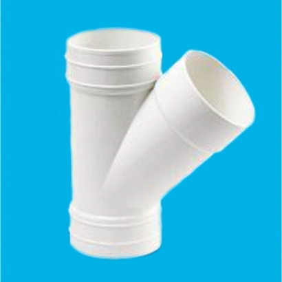 Bina Plastic BBB UPVC Soil Waste and Ventilating Fittings Series 135° Y Branch (Y Tee) With Inspection Opening FUYT