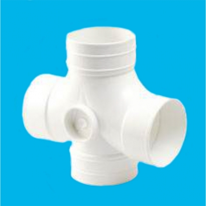 Bina Plastic BBB UPVC Soil Waste and Ventilating Fittings Series 2 Way Junction (Cross Tee) FUCT