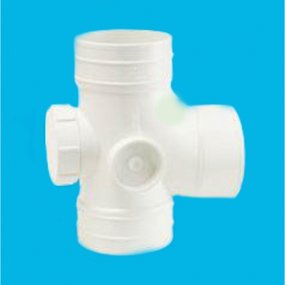 Bina Plastic BBB UPVC Soil Waste and Ventilating Fittings Series Equal Single Branch With Inspection Opening FUESB