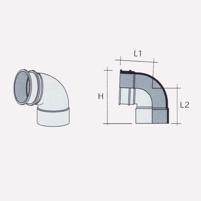 Besstem UPVC Rainwater Fittings Series 91° Bend