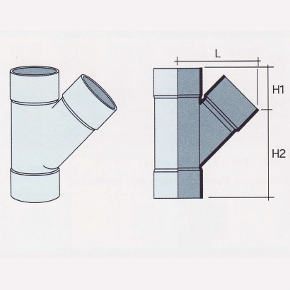 Besstem UPVC Rainwater Fittings Series 112° Equal Y Tee (One Spigot Tee)