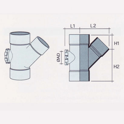 Besstem UPVC Rainwater Fittings Series 135° Unequal Y Tee