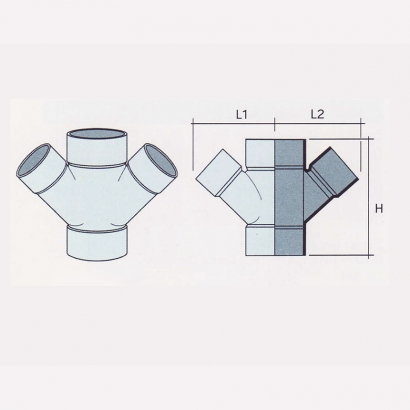 Besstem UPVC Rainwater Fittings Series 135° Unequal Double Y Tee