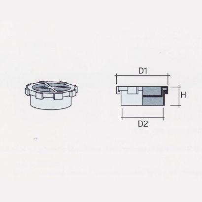 Besstem UPVC Rainwater Fittings Series Access Plug