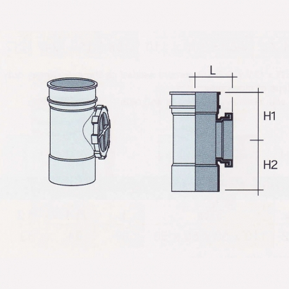 Besstem UPVC Rainwater Fittings Series Access Pipe