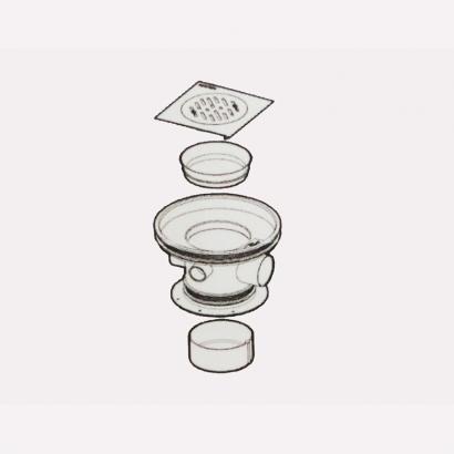 Besstem UPVC Rainwater Fittings Series 50mm Floor Drain 2R418