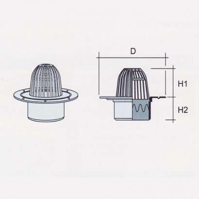 Besstem UPVC Rainwater Fittings Series Domed Roof Outlet Grating (Spigot End)