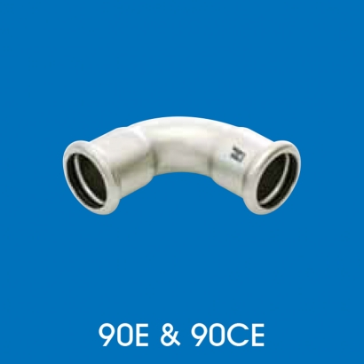 Hoto Press Fit Stainless Steel Fittings Series 90° Elbow 90CE