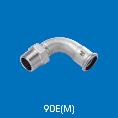 Hoto Press Fit Stainless Steel Fittings Series 90° Adaptor Elbow With Male Thread Type 1 90EM