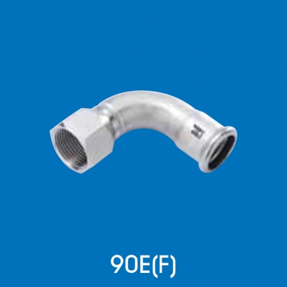 Hoto Press Fit Stainless Steel Fittings Series 90° Female Water Tap Elbow 90EF