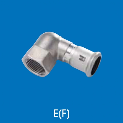 Hoto Press Fit Stainless Steel Fittings Series 90° Female Water Tap Elbow Short (Parallel Thread) EF