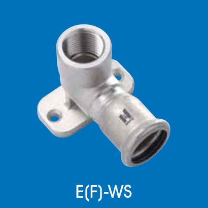 Hoto Press Fit Stainless Steel Fittings Series 90° Female Water Tap Elbow Short (Parallel Thread) EFWS