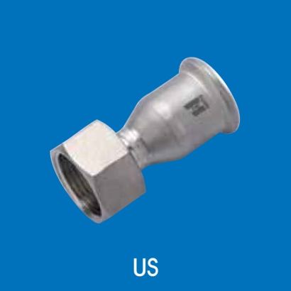 Hoto Press Fit Stainless Steel Fittings Series Union Socket (Parallel Thread) US