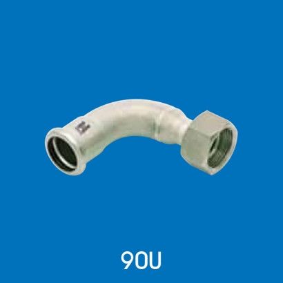 Hoto Press Fit Stainless Steel Fittings Series 90° Union (Parallel Thread) 90U