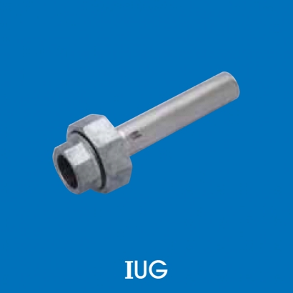 Hoto Press Fit Stainless Steel Fittings Series Union Come With Galvanized Steel Nut 100°C IUG