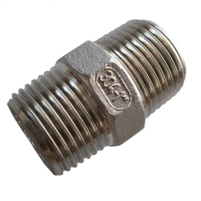 Unitrade Alfran 304 Stainless Steel Fittings Screwed Hexagon Nipple