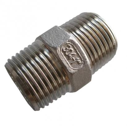 Unitrade Alfran 304 Stainless Steel Fittings Screwed Hexagon Nipple