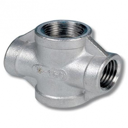 Unitrade Alfran 304 Stainless Steel Fittings Screwed Cross Tee