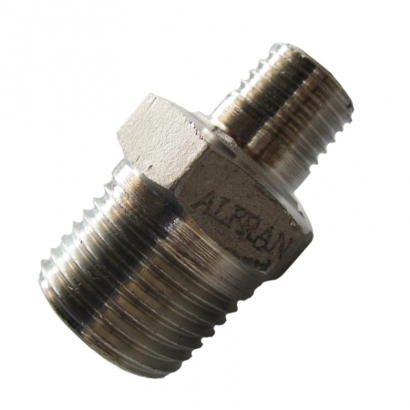 Unitrade Alfran 304 Stainless Steel Fittings Screwed Reducing Nipple