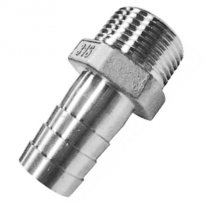 Unitrade Alfran 304 Stainless Steel Fittings Hose Nipple