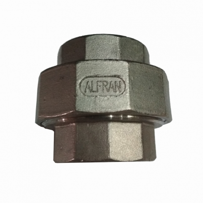 Stainless Steel Fitting Screwed M&M Union Socket Alfran SS304