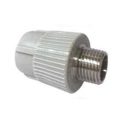 Azeeta PPR Hot and Cold Water Plumbing PPR Fitting System Male Threaded Adaptor