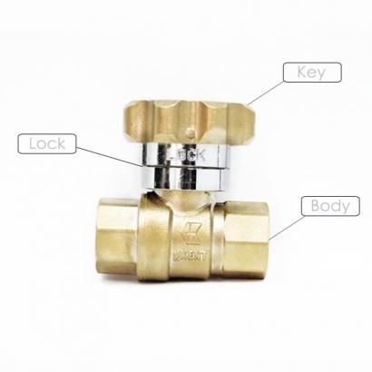 George Kent gKENT Brass Magnetic Lockable Ball Valve (Key)