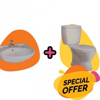 CAN Special Promotion Wash Basin Plus Wash Down Close Coupled L306 and C1310S