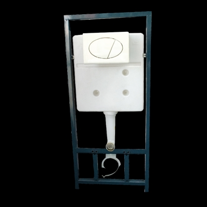 Goldolphin Dual Flush Concealed Cistern with Matte Chrome Plated Finish Push Plate DFCC2012