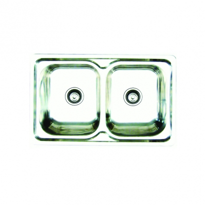 CAM Double Bowls Stainless Steel AHI1018BWC