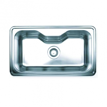 CAM Drop In Single Bowl Stainless Steel Sink AHI1017BWC