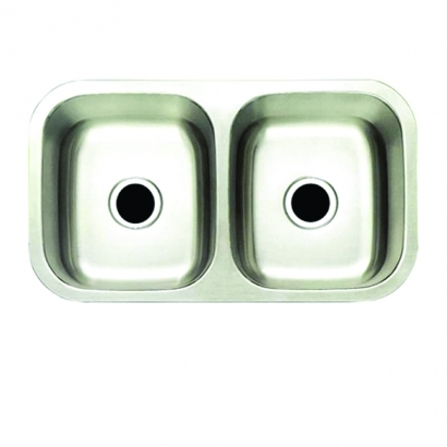 CAM Undermount Double Bowls Stainless Steel U3318C9