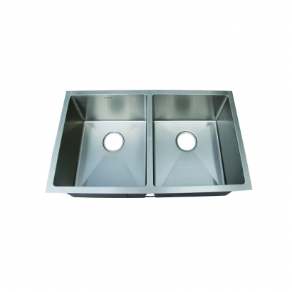 CAM Double Bowl 50 50 Stainless Steel Handmade Sink HUNA311890N