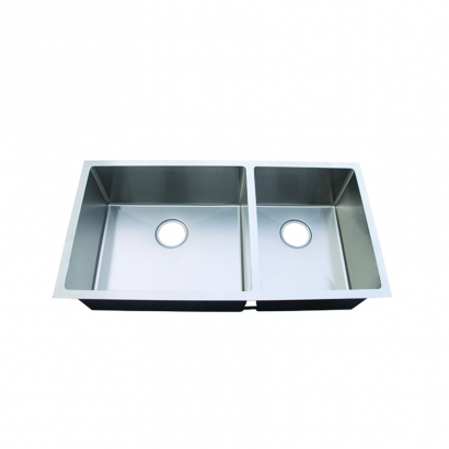 CAM Double Bowl 60 40 Stainless Steel Handmade Sink HUNA351892L