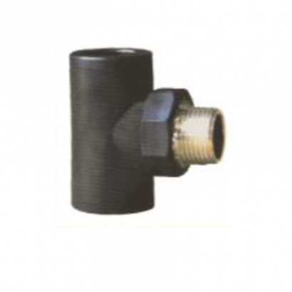 Dura Fitting HDPE Smart Fuse PE Socket Fusion Fittings Male Tee
