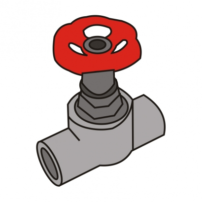 Bute Engineering PPR Hot and Cold Water System PPR Fitting Stop Valve