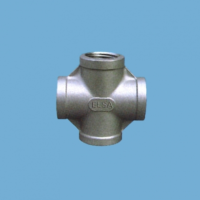 Elsa Brand Type 304 Stainless Steel Fitting Cross Tee