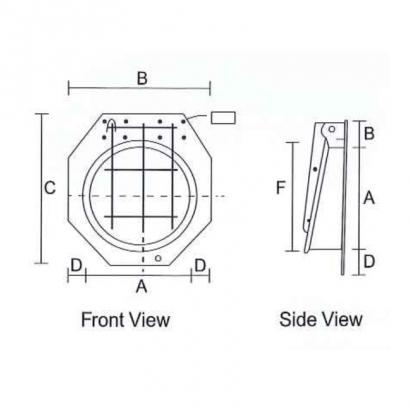 HDPE Flap Gate Lecotech Round Type