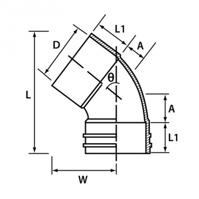 Paling Soil Waste and Vent UPVC Fitting Series 41° Unswept Bend