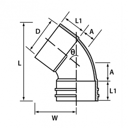 Paling Soil Waste and Vent UPVC Fitting Series 68° Unswept Bend