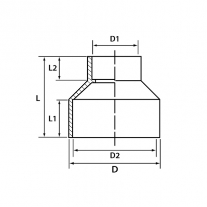 Paling Soil Waste and Vent UPVC Fitting Series Concentric Reducer