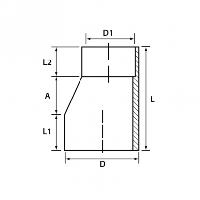 Paling Soil Waste and Vent UPVC Fitting Series Level Invert Reducer