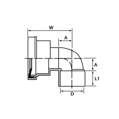 Paling Soil Waste and Vent UPVC Fitting Series WC Pan Elbow Connector